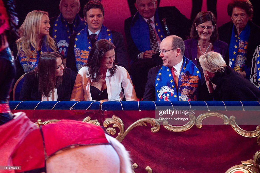 Pauline Ducruet, Princess Stephanie of Monaco, Princess Charlene of Monaco and Prince Albert II of Monaco attend the opening of Monte-Carlo 36th International Circus Festival on January 19, 2012 in Monte-Carlo, Monaco.