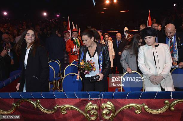Pauline Ducruet Princess Stephanie of Monaco Robert Hossein and Camille Gotlieb attend the 39th International MonteCarlo Circus Festival on January...