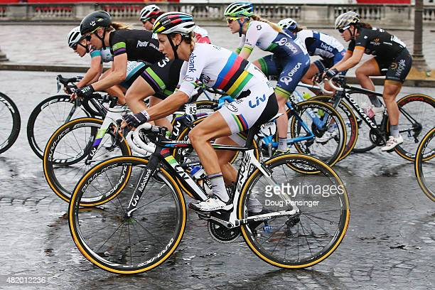 Pauline Ferrand Prevot of France and Rabo Liv Woman Cycling Team rides during the La Course By Le Tour De France 2015 Women's Race on July 26 2015 in...