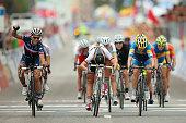 Pauline FerrandPrevot of France celebrates winning the Women's Elite Road Race on day six of the UCI Road World Championships on September 27 2014 in...