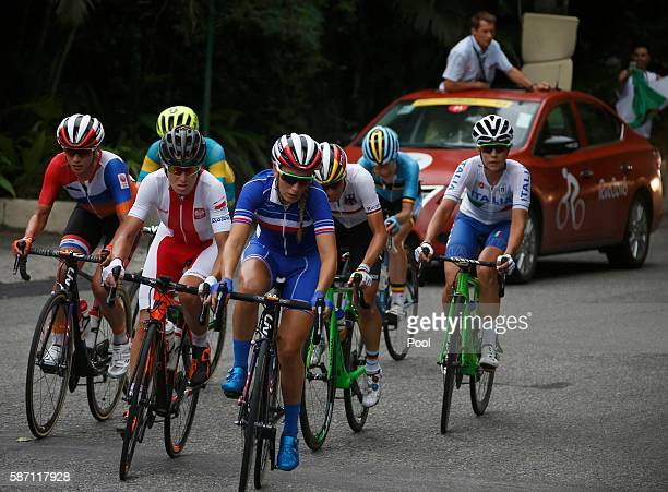Pauline FerrandPrevot of France leads the break away in the women's cycling road race on Day 2 of the Olympics August 7 2016 in Rio de Janeiro Brazil