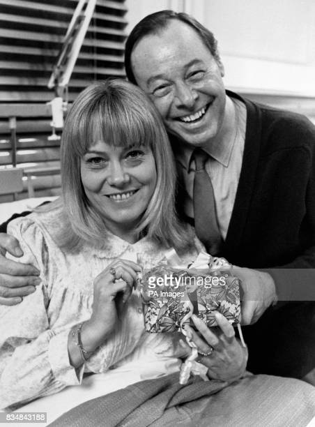 Pauline Fowler is visited in hospital by tv husband Arthur where she has been over Christmas after her hysterectomy