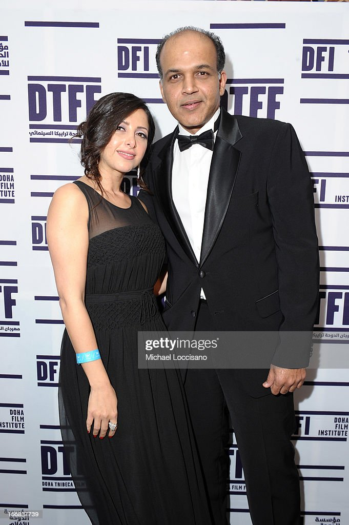 Pauline Haddad and Ashutosh Gowariker attend the Awards After Party during 2012 Doha Tribeca Film Festival at W Hotel on November 22, 2012 in Doha, Qatar.
