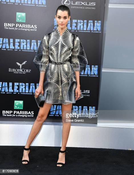 Pauline Hoarau arrives at the Premiere Of EuropaCorp And STX Entertainment's 'Valerian And The City Of A Thousand Planets' at TCL Chinese Theatre on...