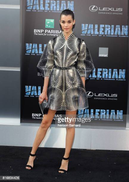 Pauline Hoarau attends the premiere of EuropaCorp and STX Entertainment's 'Valerian and The City of a Thousand Planets' at TCL Chinese Theatre on...