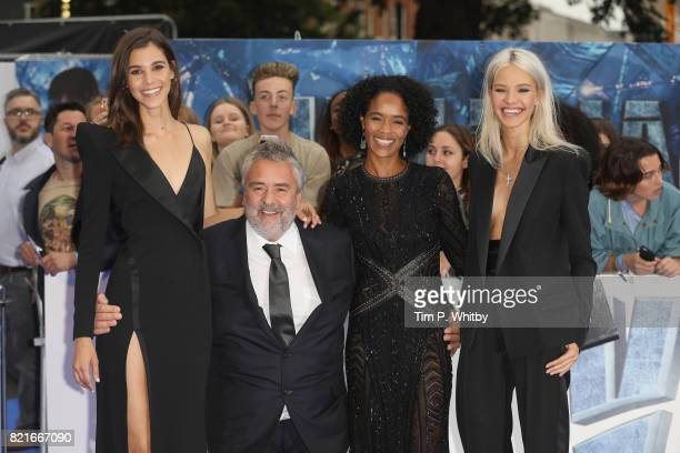 Pauline Hoarau Director Luc Besson Producer Virginie Besson and Sasha Luss attend the 'Valerian And The City Of A Thousand Planets' European Premiere...