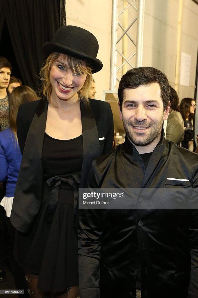 Pauline Lefevre and Alexis Mabille attend the Alexis Mabille Fall/Winter 2013 Ready-to-Wear show as part of Paris Fashion Week on February 27, 2013 in Paris, France.