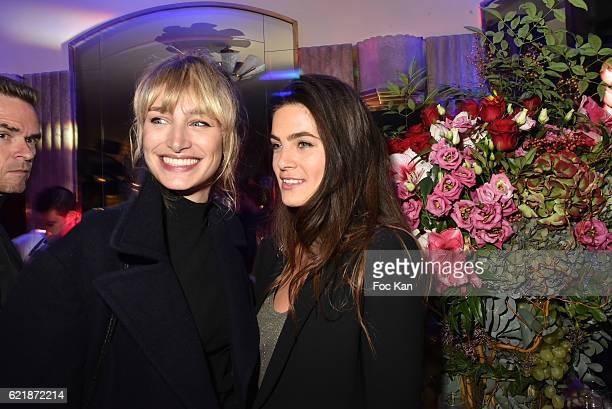 Pauline Lefevre and Lara Micheli attend the 'Prix De Flore 2016 ' Literary Prize Winner Announcement at Cafe de Flore on November 8 2015 in Paris...