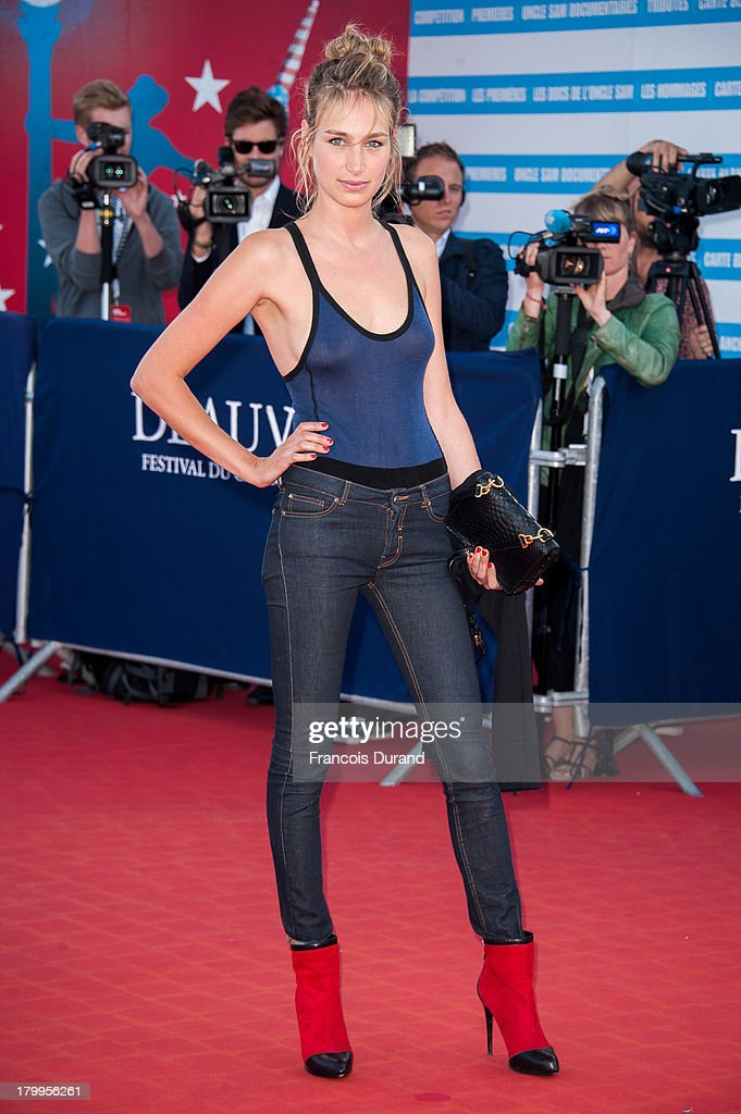<a gi-track='captionPersonalityLinkClicked' href=/galleries/search?phrase=Pauline+Lefevre&family=editorial&specificpeople=5853150 ng-click='$event.stopPropagation()'>Pauline Lefevre</a> arrives at the 'Snowpierce' Premiere and closing ceremony of the 39th Deauville American Film Festival on September 7, 2013 in Deauville, France.