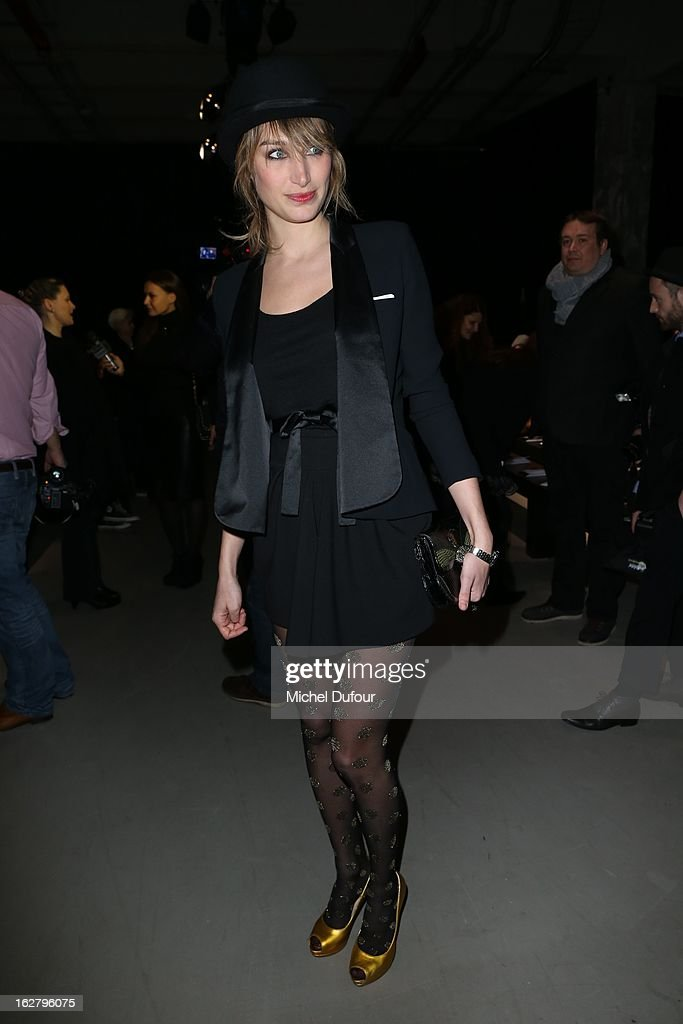 Pauline Lefevre attends the Alexis Mabille Fall/Winter 2013 Ready-to-Wear show as part of Paris Fashion Week on February 27, 2013 in Paris, France.