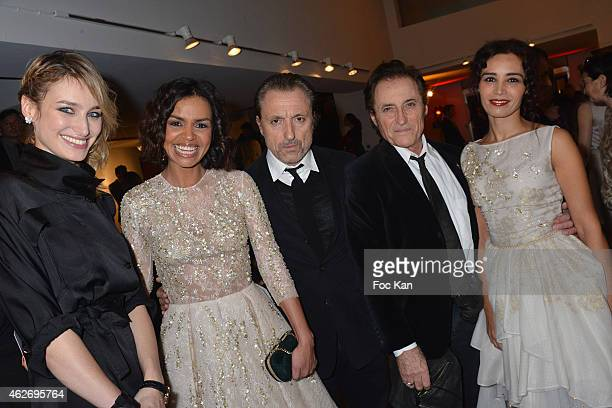 Pauline Lefevre Laurence Roustandjee Gil Ros Franck Ros and Aida Touihri attend 'Les Lumieres 2015' Arrivals At Espace Pierre Cardin on February 2...