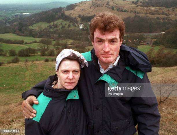 Pauline Leyshon and boyfriend Ivor Stokle revisiting the scene of the murder bid againt them which left them both badlky burned Bristol Crown Court...