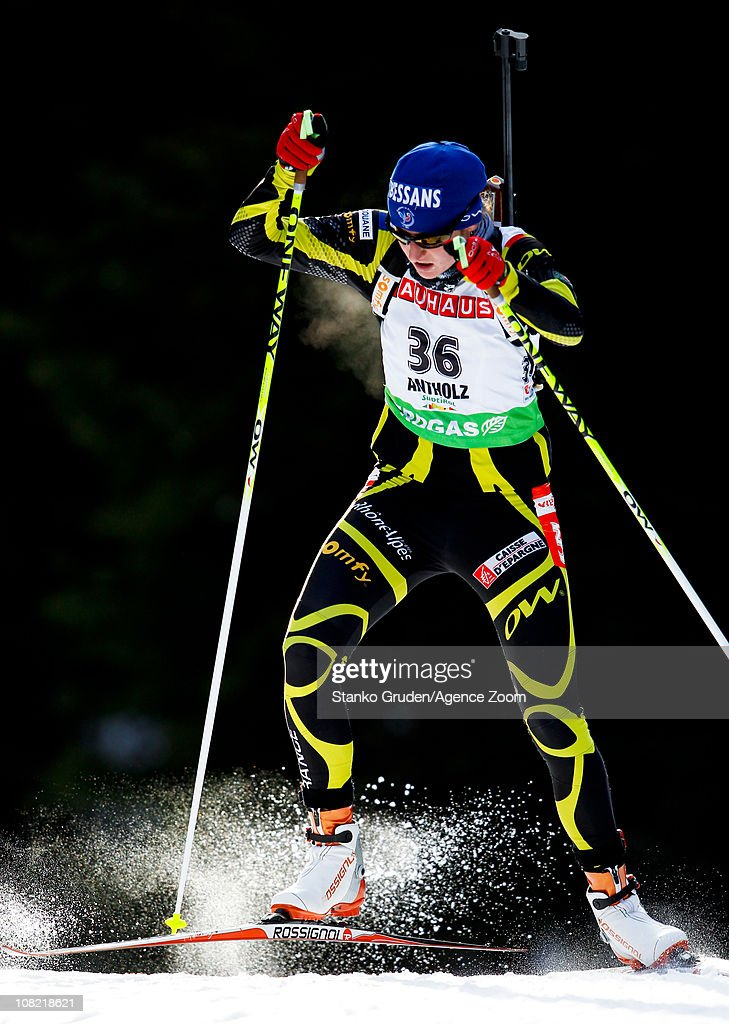 Pauline Macabies of France in action during the IBU World Cup Biathlon Women's 7.5 km Sprint on January 21, 2011 in Antholz-Anterselva, Italy.