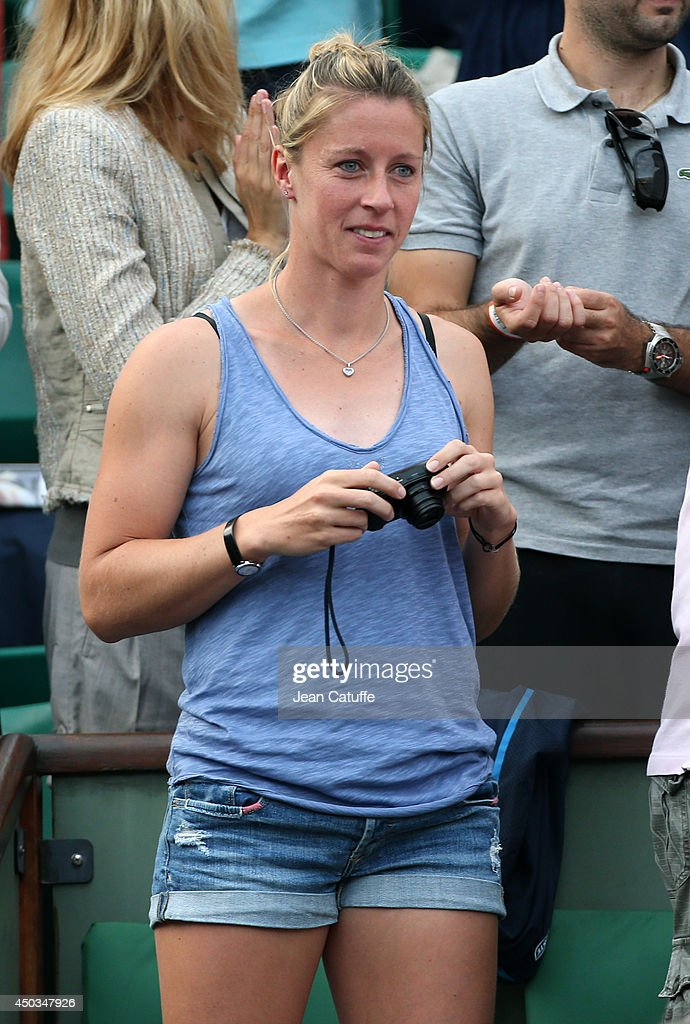 <a gi-track='captionPersonalityLinkClicked' href=/galleries/search?phrase=Pauline+Parmentier&family=editorial&specificpeople=607686 ng-click='$event.stopPropagation()'>Pauline Parmentier</a> attends the women's final of the French Open 2014 held at Roland-Garros stadium on June 7, 2014 in Paris, France.