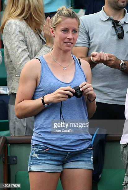 Pauline Parmentier attends the women's final of the French Open 2014 held at RolandGarros stadium on June 7 2014 in Paris France