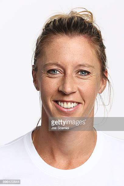 Pauline Parmentier of France poses for a WTA Portrait at Arthur Ashe Stadium on August 26 2016 in New York City