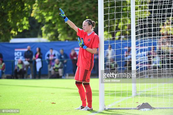 Pauline Peyraud Magnin of Marseille during the women's French D1 league match between PSG and Olympique de Marseille at Camp des Loges on September...
