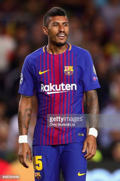 Paulinho of FC Barcelona looks on during the UEFA Champions League group D match between FC Barcelona and Juventus at Camp Nou on September 12 2017...