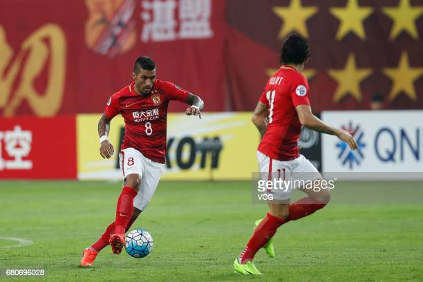 Paulinho of Guangzhou Evergrande during 2017 AFC Champions League group match G between Guangzhou Evergrande and Suwon Samsung Bluewings at Guangzhou...