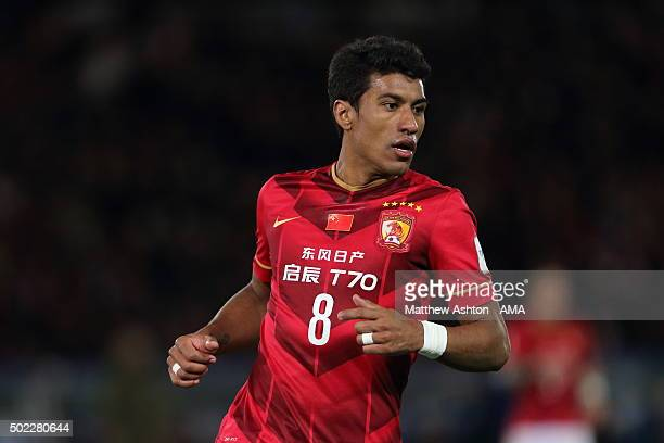 Paulinho of Guangzhou Evergrande FC during the FIFA World Club Cup SemiFinal between Barcelona and Guangzhou Evergrande at International Stadium...
