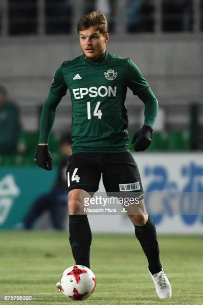 Paulinho of Matsumoto Yamaga in action during the JLeague J2 match between Matsumoto Yamaga and Kamatamare Sanuki at Matsumotodaira Park Stadium on...