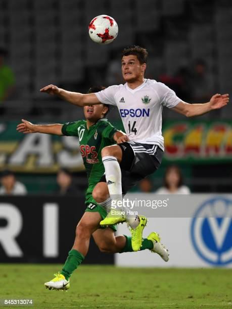 Paulinho of Matsumoto Yamaga in action during the JLeague J2 match between Tokyo Verdy and Matsumoto Yamaga at Ajinomoto Stadium on September 10 2017...