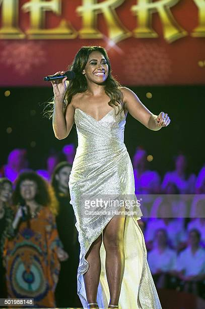 Paulini performs during Woolworths Carols in the Domain at The Domain on December 19 2015 in Sydney Australia Woolworths Carols in the Domain is...