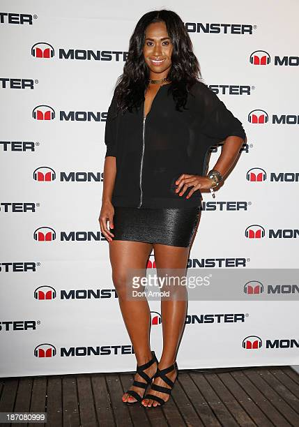 Paulini poses at the Monster Headphones Launch Party at The Ivy on November 6 2013 in Sydney Australia
