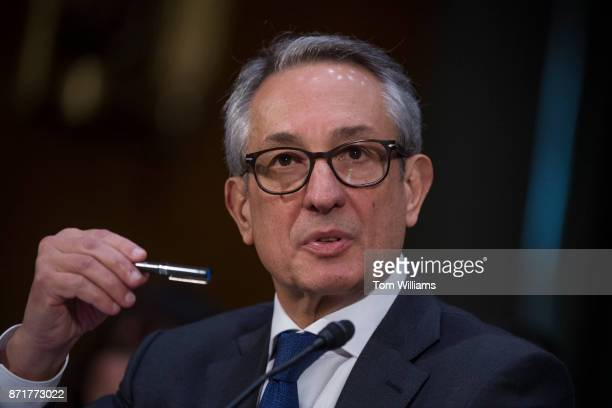 Paulino Barros interim CEO of Equifax testifies during a Senate Commerce Science and Transportation Committee hearing titled 'Protecting Consumers in...