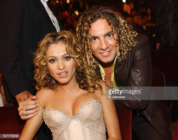 Paulino Rubio and David Bisbal during The 5th Annual Latin GRAMMY Awards Backstage and Audience at Shrine Auditorium in Los Angeles California United...