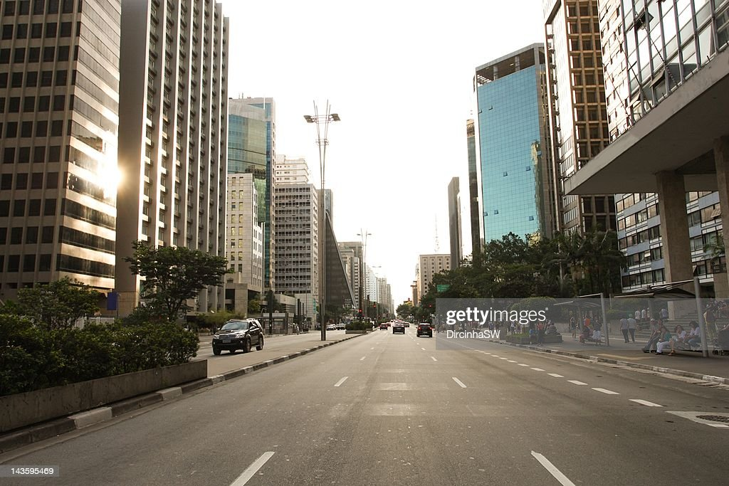 Paulista Avenue : Stock Photo