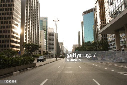 Paulista Avenue : Stock Photo