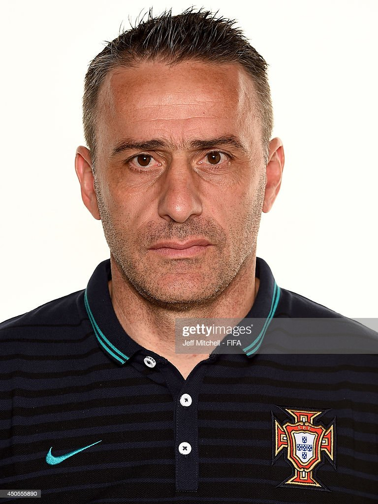 <a gi-track='captionPersonalityLinkClicked' href=/galleries/search?phrase=Paulo+Bento&family=editorial&specificpeople=2076425 ng-click='$event.stopPropagation()'>Paulo Bento</a>, coach of Portugal poses during the official FIFA World Cup 2014 portrait session on June 12, 2014 in Sao Paulo, Brazil.