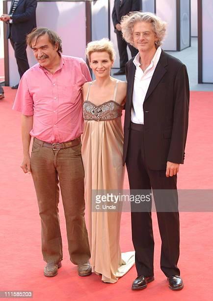 Paulo Branco Juliette Binoche and Santiago Amigorena director