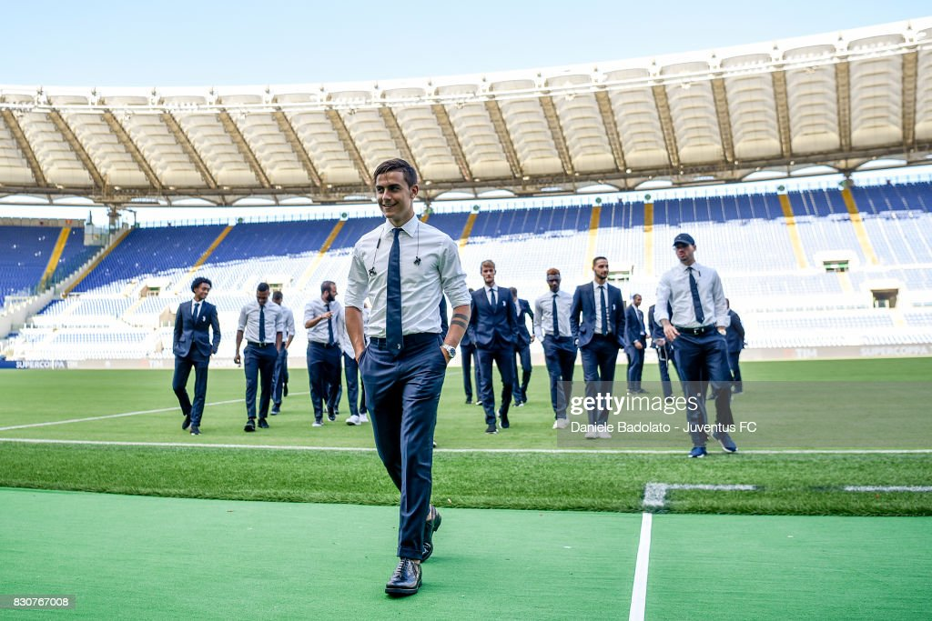 Paulo Dybala during the Juventus Walk Around ahead of the Italian Supercup at Olimpico Stadium on August 12, 2017 in Rome, Italy.
