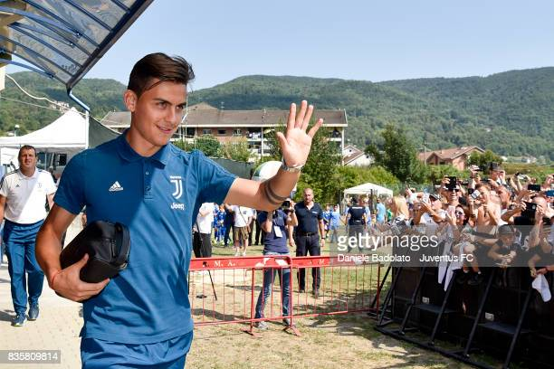 Paulo Dybala during the preseason friendly match between Juventus A and Juventus B on August 17 2017 in Villar Perosa Italy