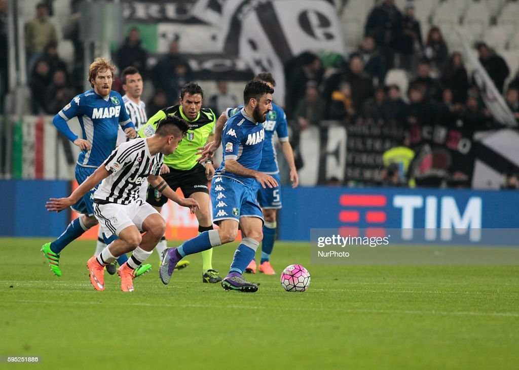 Paulo Dybala during the serie A match between Juventus FC and US Sassuolo Calcio at the Juventus Stadium of Turin on march 11 2016 in Torino italy
