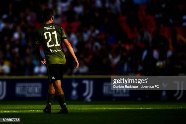 Paulo Dybala during the Tottenham Hotspur v Juventus PreSeason Friendly at Wembley Stadium on August 5 2017 in London England