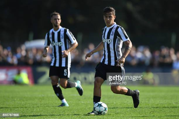 Paulo Dybala of Juventus A in action during the preseason friendly match between Juventus A and Juventus B on August 17 2017 in Villar Perosa Italy