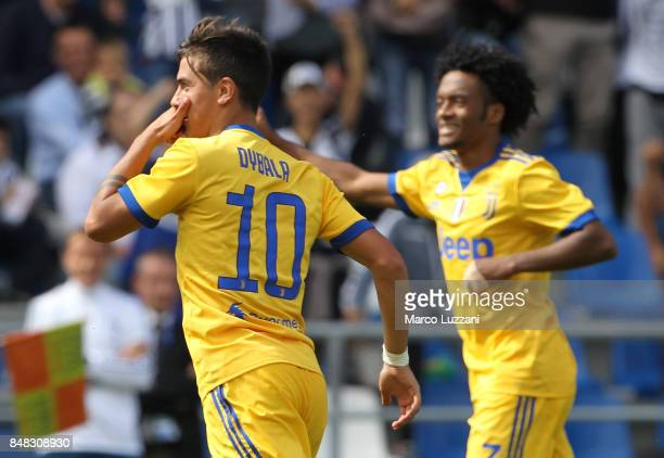 Paulo Dybala of Juventus celebrates his second goal during the Serie A match between US Sassuolo and Juventus at Mapei Stadium Citta' del Tricolore...