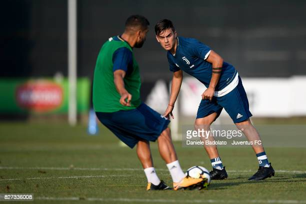 Paulo Dybala of Juventus during a training session on August 7 2017 in Vinovo Italy