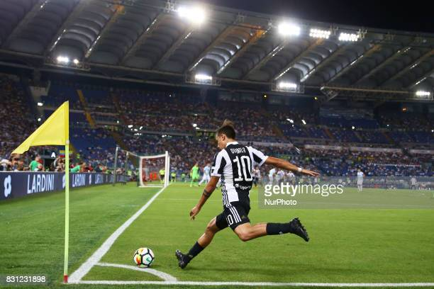 Paulo Dybala of Juventus during the Italian Supercup match between Juventus and SS Lazio at Stadio Olimpico on August 13 2017 in Rome Italy