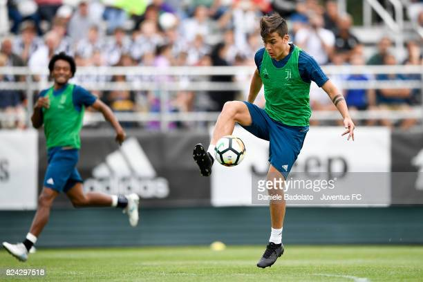 Paulo Dybala of Juventus during the morning training session for Summer Tour 2017 by Jeep on July 29 2017 in Boston Massachusetts