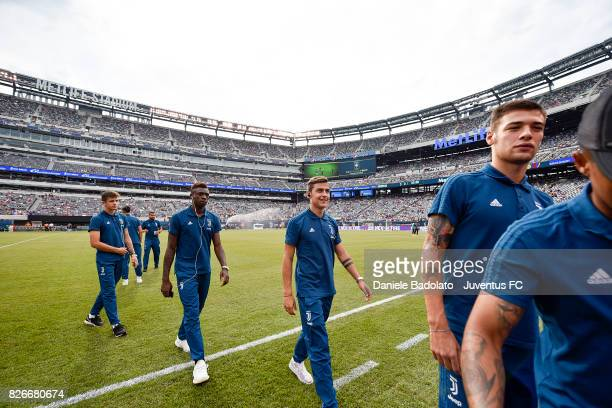Paulo Dybala of Juventus during the pitch inspection before the International Champions Cup match between Juventus and Barcelona at MetLife Stadium...