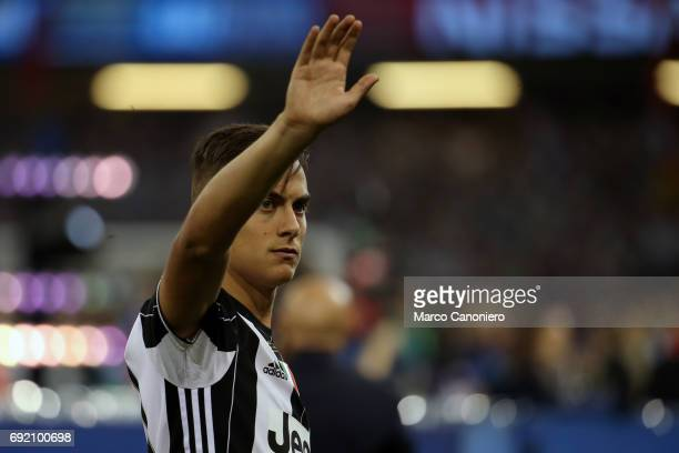 Paulo Dybala of Juventus FC at the end of the UEFA Champions League final match between Juventus FC and Real Madrid CF Real Madrid beat Juventus 41...