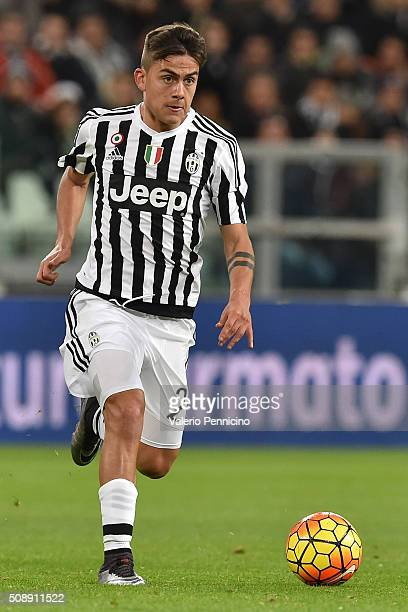 Paulo Dybala of Juventus FC in action during the Serie A match between Juventus FC and Genoa CFC at Juventus Arena on February 3 2016 in Turin Italy