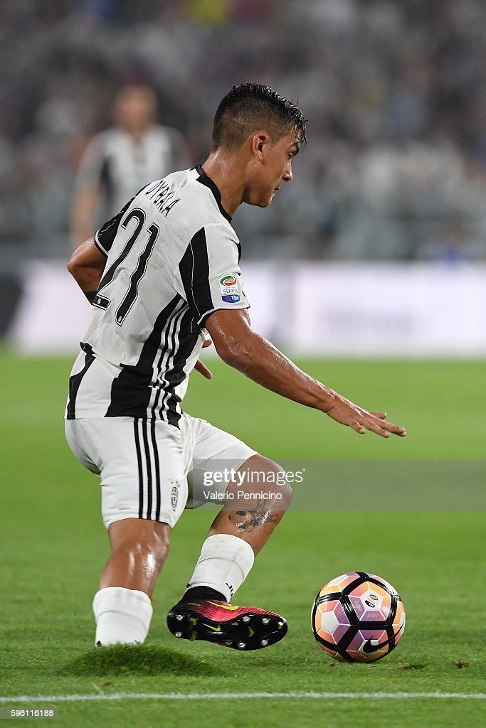 Paulo Dybala of Juventus FC in action during the Serie A match between Juventus FC and ACF Fiorentina at Juventus Arena on August 20 2016 in Turin...