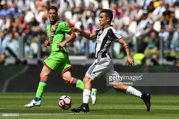 Paulo Dybala of Juventus FC in action during the Serie A match between Juventus FC and FC Crotone at Juventus Stadium on May 21 2017 in Turin Italy