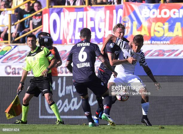 Paulo Dybala of Juventus FC in action during the Serie A match between Bologna FC and Juventus FC at Stadio Renato Dall'Ara on May 27 2017 in Bologna...