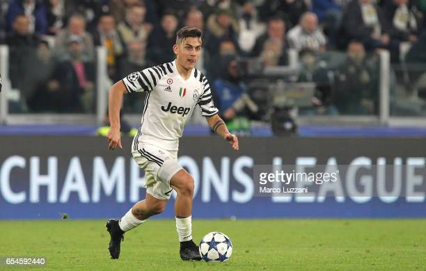 Paulo Dybala of Juventus FC in action during the UEFA Champions League Round of 16 second leg match between Juventus and FC Porto at Juventus Stadium...